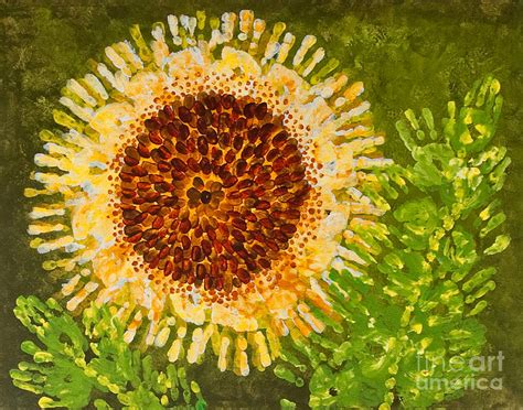 Sunflower Painting by Kindergarten