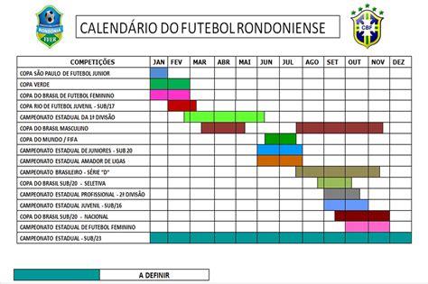 Calendario Niã O Niã A Original Federa 231 227 O De Futebol De Rond 244 Nia Divulga Calend 225 Para O