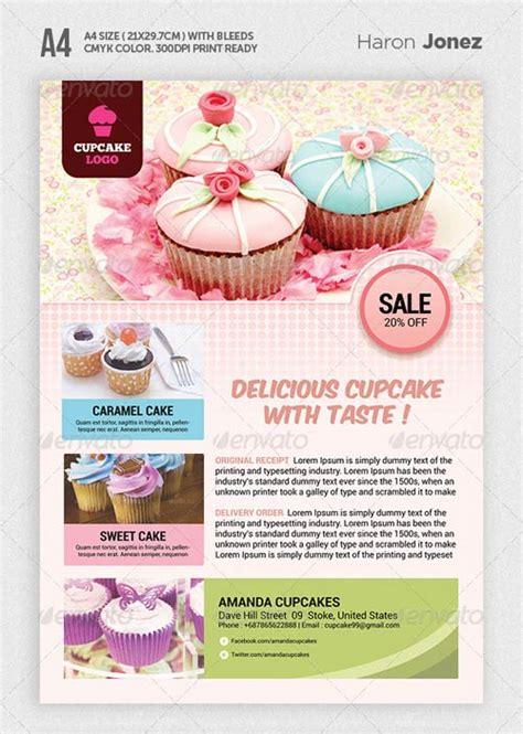 graphicriver cupcake flyer template