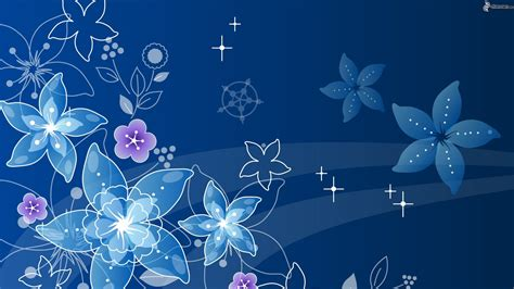Flores Digitales Blue Flower Powerpoint Backgrounds Hd Free Wallpaper