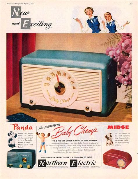 vintage tv commercials from the 1940s 50s 7 ads 17 best images about 1940 s color radios from ads on