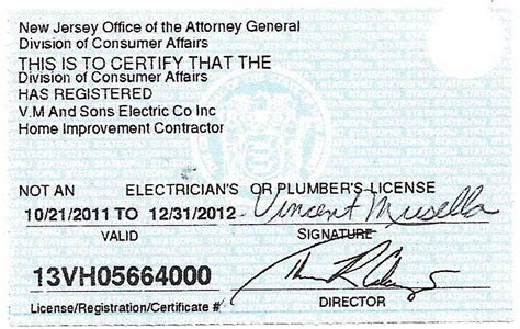 licenses certificates electrician usa