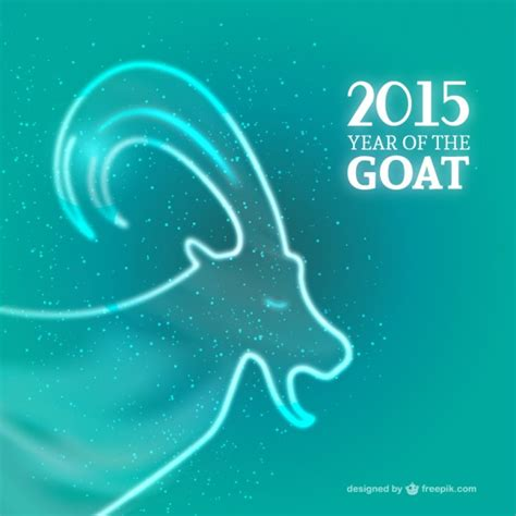 free new year goat 2015 year of the goat 2015 vector free