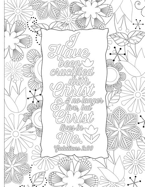 inspirational bible coloring pages inspiring words 30 verses from the bible you can color