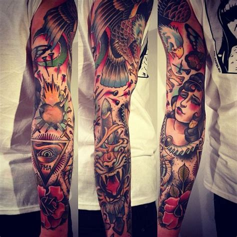 old school sleeve tattoo designs 39 school tattoos on sleeve