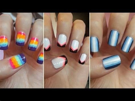 simple nail art design youtube easy nail art for beginners 5 youtube couple of