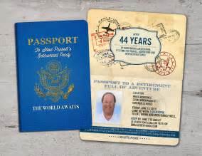 bon voyage invitation templates free retirement invitation bon voyage travel passport