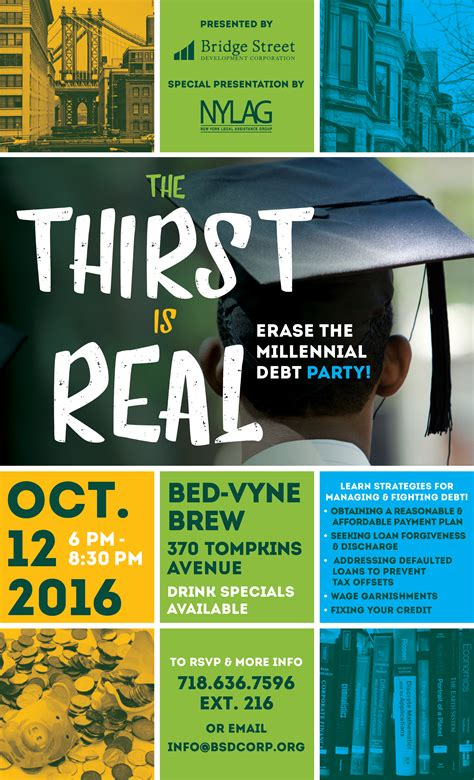 bed vyne brew the thirst is real erase the millennial debt party
