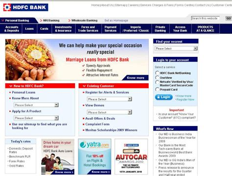 Hdfc Credit Card Bill Sle Hdfc Card Login To Hdfcbank For Credit Card Bill Payment Letmeget