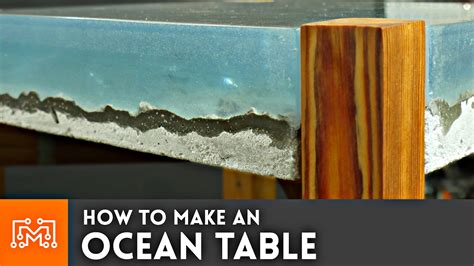 how to make a river table how to make an ocean table concrete and epoxy resin
