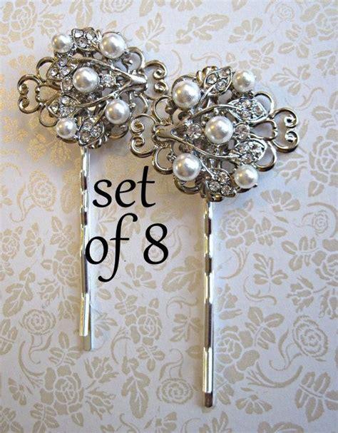 hair pin collection khopa set of 8 bridesmaid hair pins bridesmaid bobby pin