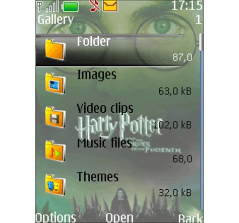 themes download on java harry potter theme for java download