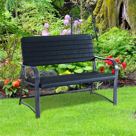 garden bench clearance outsunny 46 2 person outdoor bench clearance