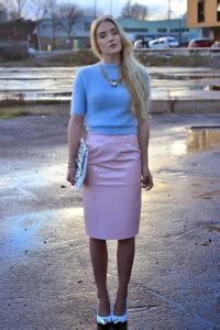 baby pink patent vinyl fabric for pencil skirt
