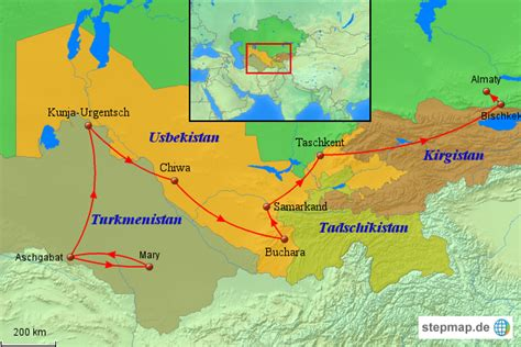 usbekistan regionen karte usbekistan karte reise nach usbekistan und zentralasien
