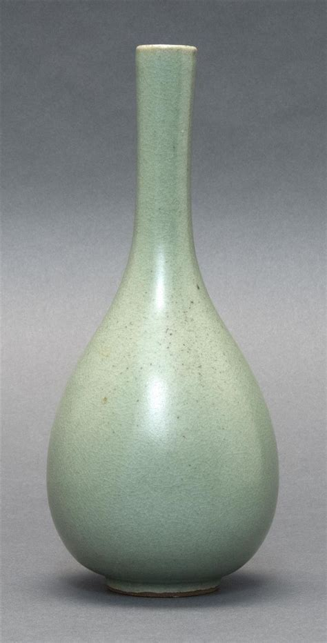 Korean Celadon Vase by Korean Celadon Bottle Vase In Teardrop Form Potter S O