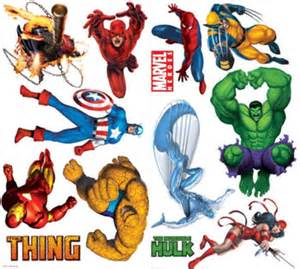 marvel heroes wall stickers marvel wall stickers