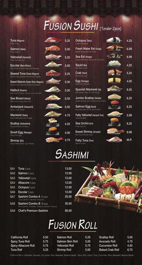 sushi fan cafe menu best 25 sushi menu ideas on mr sushi menu