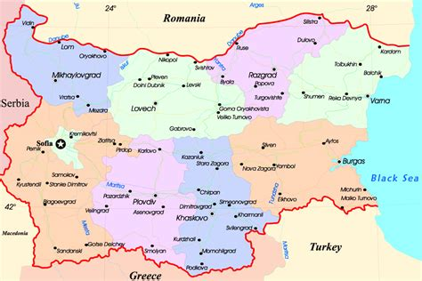 maps of maps of bulgaria detailed map of bulgaria in tourist map map of resorts of