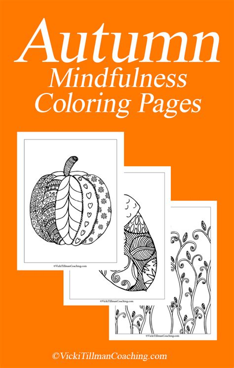 mindfulness coloring book review mindfulness activity fall coloring pages vicki tillman