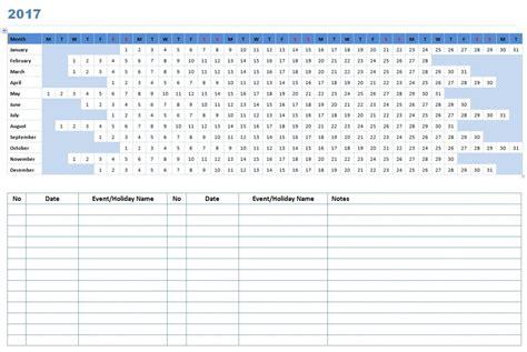 2017 linear calendar template free microsoft word templates