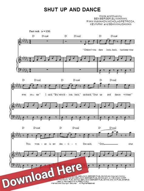 tutorial dance piano walk the moon shut up and dance piano sheet music notes
