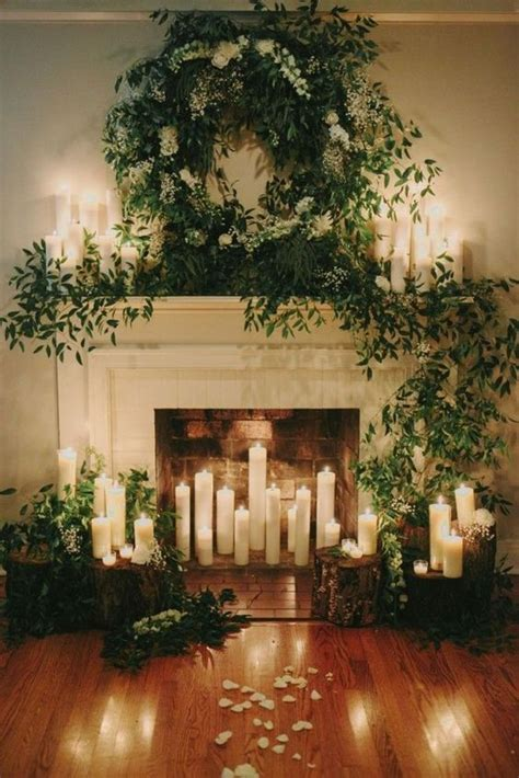 Hanging Candle Chandelier Non Electric 30 Winter Wedding Arches And Altars To Get Inspired