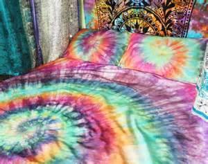 Hippie Bedding Sets Uk Tie Dye Duvet Set Hippie Bedding Rainbow By Drawfortoffee