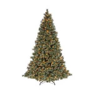 martha stewart 9 ft sparkling pine artificial christmas