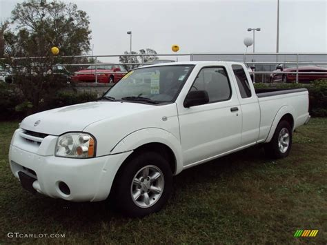 white nissan truck 2002 cloud white nissan frontier xe king cab 23461879