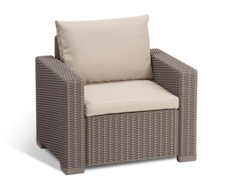 outdoor armchair cushions allibert by keter california armchair duo rattan outdoor