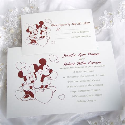 mickey mouse wedding invitations template best template - Wedding Invitation To Mickey Mouse