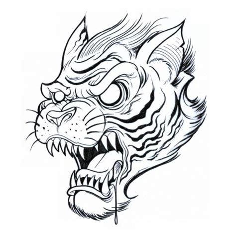tiger tattoo outline designs outline tiger design