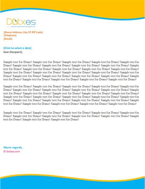 personal letterhead template sky blue design dotxes