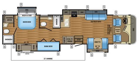 class a floor plans 2017 precept 36t jayco inc