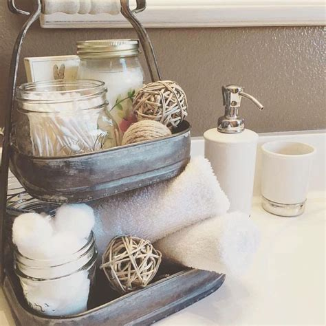 bathroom counter accessories 25 best ideas about rustic bathroom decor on pinterest