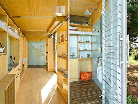 Container Homes Interior Compact And Sustainable Port A Bach Shipping Container Home