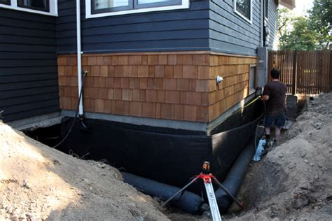 basement wall drainage mat drainage report installation and backfill chezerbey