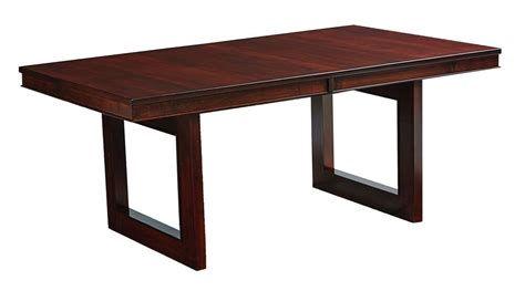 amish kalispel rectangle pedestal dining table solid wood