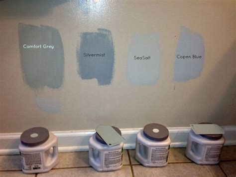 sherwin williams silver grey colors of comfort grey silvermist sea salt and copen blue http