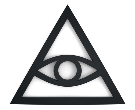 illuminati and illuminati sign free 3d model 3d printable stl cgtrader