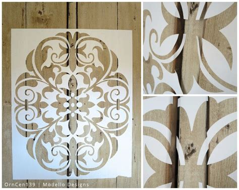 kitchen stencil ideas a rustic cabinet makeover with modello 174 stencils