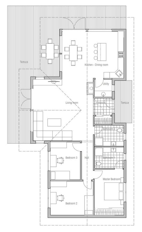 house plans with vaulted ceilings small house plan ch128 with interior and vaulted ceiling small home design house plan