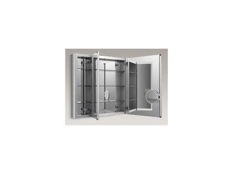triple door mirrored medicine cabinet faucet com k 99011 na in n a by kohler
