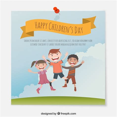 s day card free children s day card vector free
