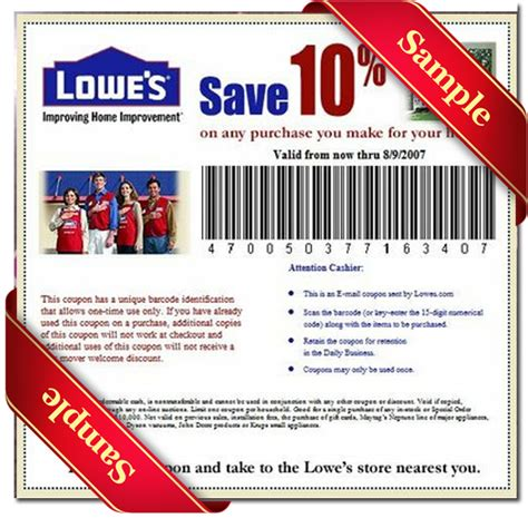 Lowes Coupons 20 Free Printable
