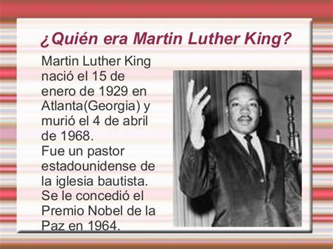 quien era martin luther king dia escolar de la no violencia y la paz