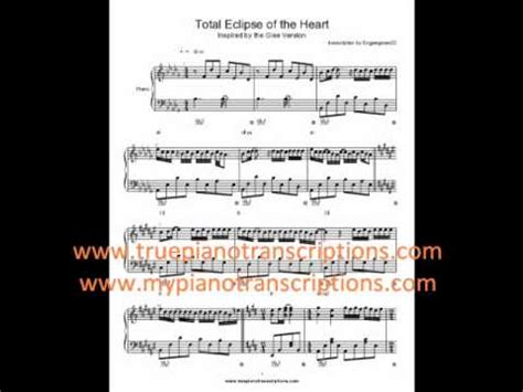 eclipse testo total eclipse of the glee sheet