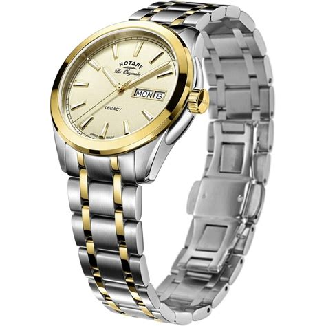rotary s legacy two tone day date swiss rotary