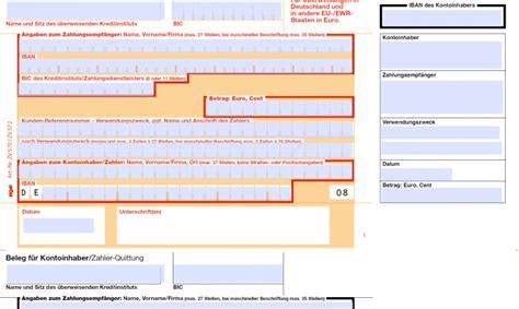 Word Vorlage Sepa Zahlschein Pdf Ausf 252 Llhilfe F 252 R Sepa 220 Berweisungen Freeware De